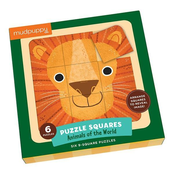 Mudpuppy puzzel vierkant dieren van de wereld 9 stukjes vanaf 3