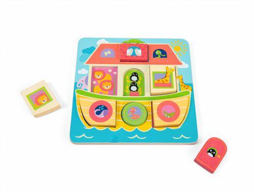Le toy van puzzel Ark van Noah 7 stukjes voor peuters