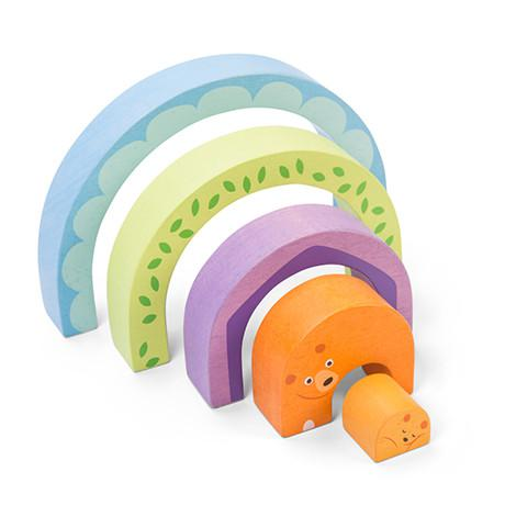 Le toy van puzzel petilou beer tunnel 5 stukjes voor peuters
