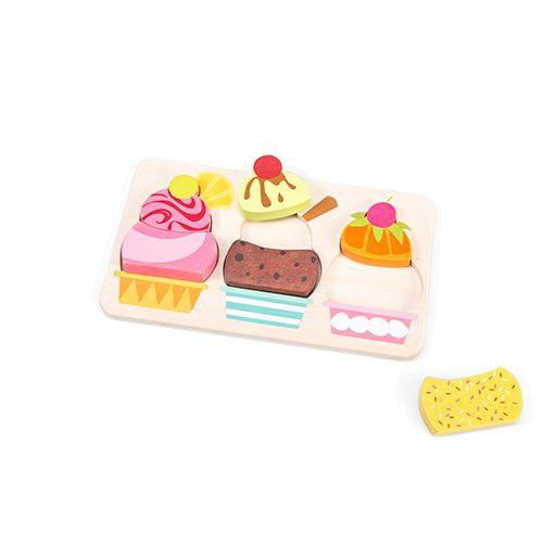 Le toy van puzzel Petilou IJsjes 3 stukjes voor peuters