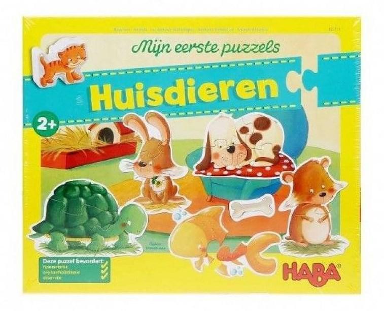 Haba mijn eerste puzzels kinderpuzzel Huisdieren 4 stukjes vanaf