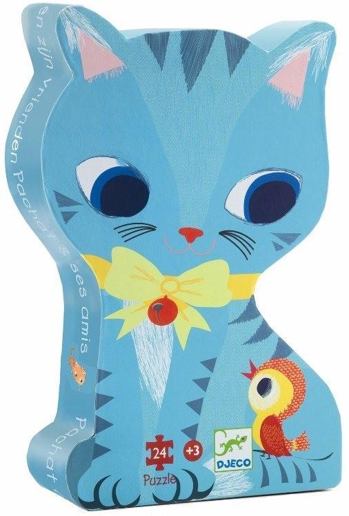 Djeco kinderpuzzel Poes Pachat met Vrienden 24 stukjes vanaf 3 j