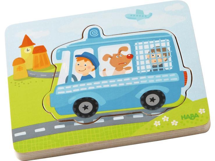 Haba houten kinderpuzzel in Actie 8 stukjes voor peuters