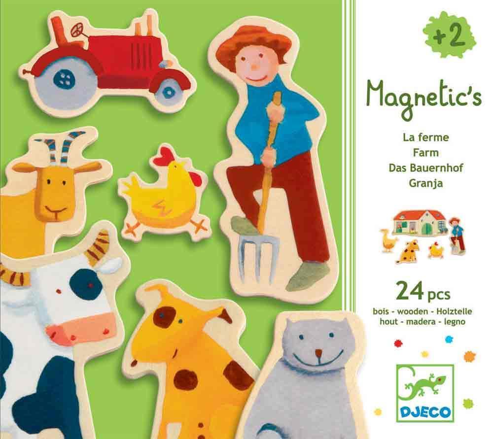 Djeco magnetische kinderpuzzel de Boerderij 24 stukjes vanaf 2 j