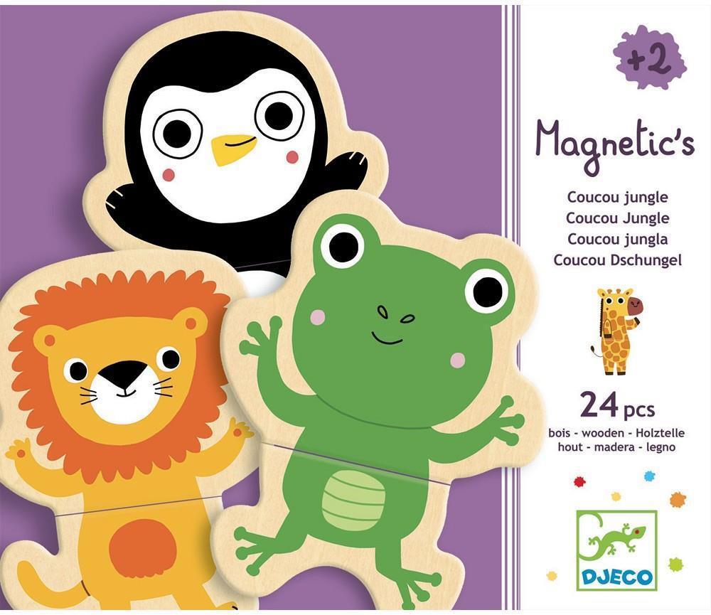 Djeco magnetische kinderpuzzel Koekoek 24 stukjes vanaf 2 jaar