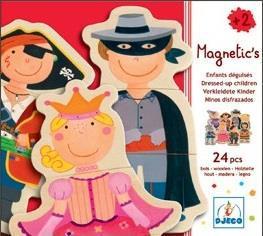 Djeco magnetische kinderpuzzel Verkleden 24 stukjes vanaf 2 jaar