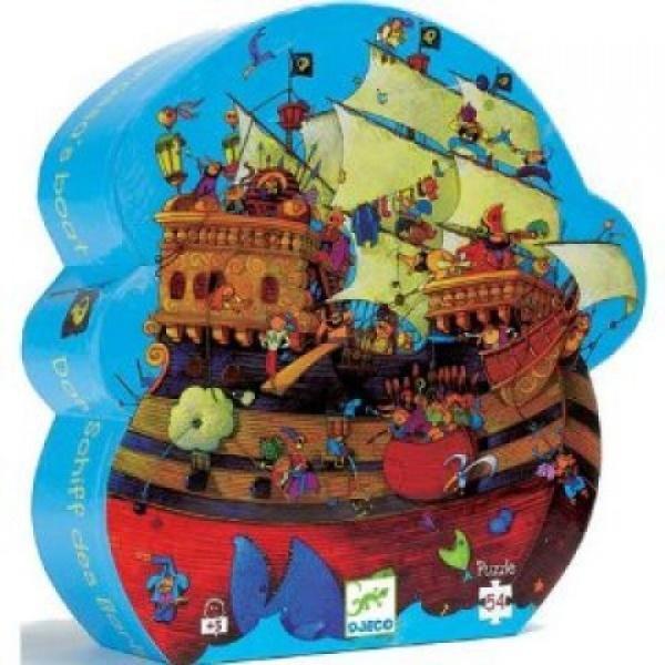 Djeco kinderpuzzel Piratenschip Blauw 54 stukjes vanaf 3 jaar