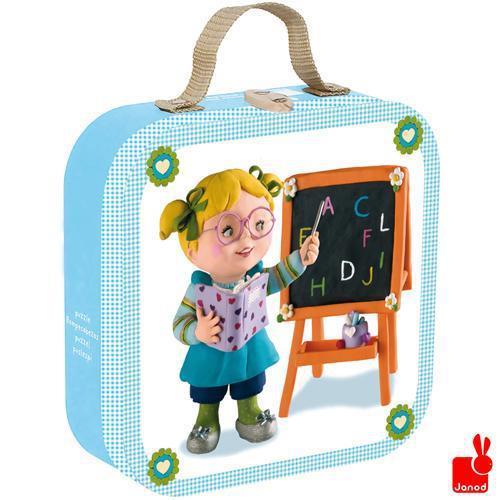 Janod kinderpuzzel in koffer Fleurus Lisas Schooltje 16 stukjes