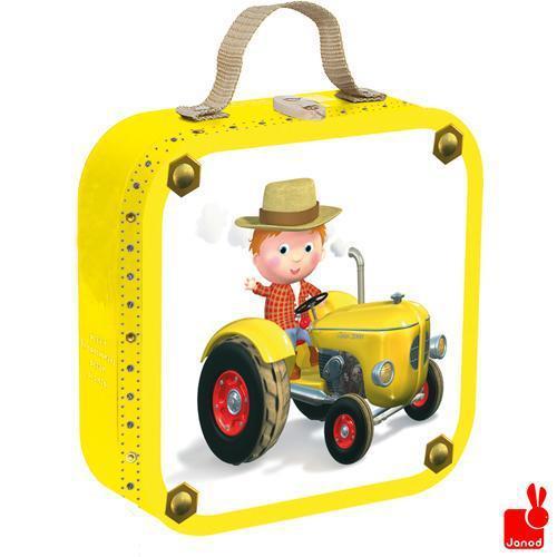 Janod knderpuzzel in koffer Fleurus Peters Tractor 16 stukjes va