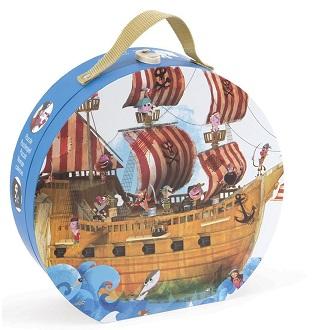 Janod vloer kinderpuzzel Piratenschip 39 stukjes vanaf 4 jaar