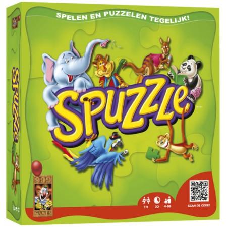 999 Games kinderpuzzel Spelen en Puzzelen tegelijk 4 stukjes van