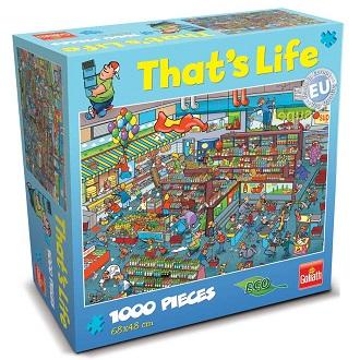 Goliath Thats life puzzel de Supermarkt 1000 stukjes vanaf 7 jaa