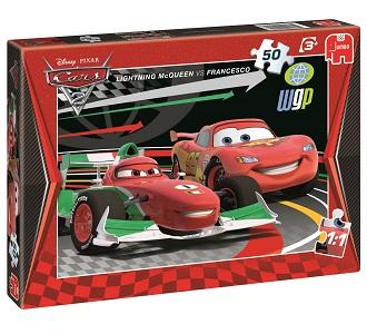 Jumbo puzzel Cars 2 50 stukjes vanaf 4 jaar