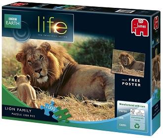 Jumbo Bbc earth legpuzzel Life Lion Family 1000 stukjes