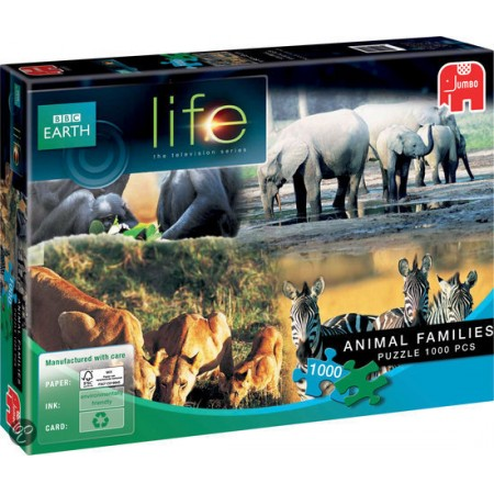 Jumbo Bbc earth legpuzzel Life Zebra Family 1000 stukjes