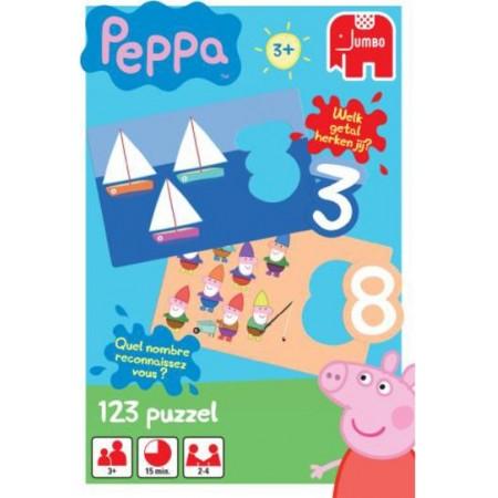 Jumbo Peppa kinderpuzzel 123 10 stukjes vanaf 3 jaar