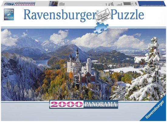 Ravensburger Panorama Puzzel Slot Neuschwanstein 2000 stukjes