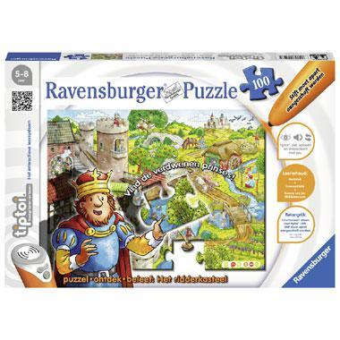 Ravensburger kinderpuzzel Tiptoi Ridderkasteel 100 stukjes vanaf