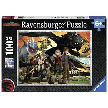 Ravensburger Dragons XXL puzzel Draken Vrienden 100 stukjes vana