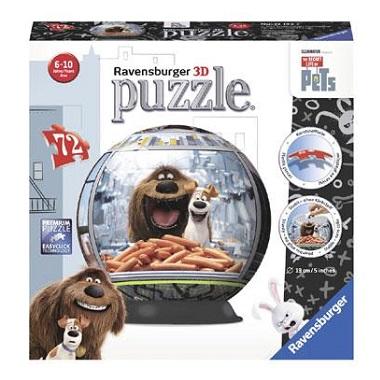 Ravensburger 3D puzzel Secret Life of Pets 72 stukjes vanaf 6 ja