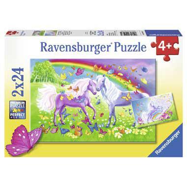 Ravensburger kinderpuzzel Regenboogpaarden 24 stukjes vanaf 4 ja
