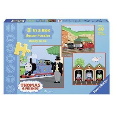 Ravensburger kinderpuzzel Thomas de Trein 49 stukjes vanaf 5 jaa