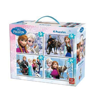King Disney frozen kinderpuzzel 24 stukjes vanaf 4 jaar