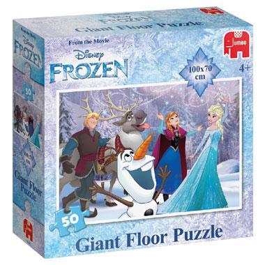 Jumbo vloer kinderpuzzel Disney Frozen 50 stukjes vanaf 4 jaar