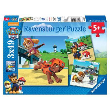 Ravensburger kinderpuzzel Paw Patrol Team op 4 poten 49 stukjes