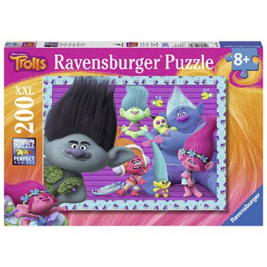 Ravensburger Trolls XXL kinderpuzzel Branch en Vrienden 200 stuk