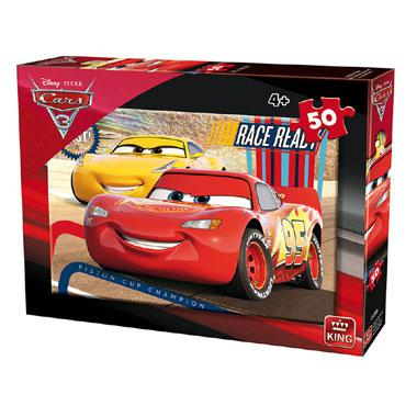 King Disney cars 3 kinderpuzzel Race Ready 50 stukjes vanaf 4 ja