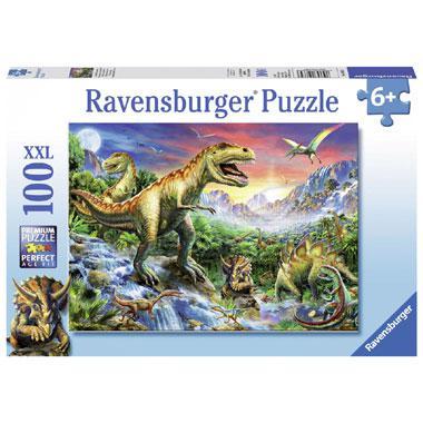 Ravensburger XXL kinderpuzzel bij de Dinosaurussen 100 stukjes v