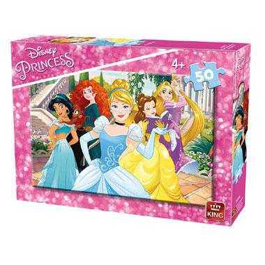King Disney kinderpuzzel Princess 50 stukjes vanaf 4 jaar