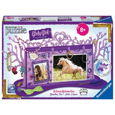 Ravensburger Girly Girl 3D puzzel Juwelenboom Paarden 108 stukje