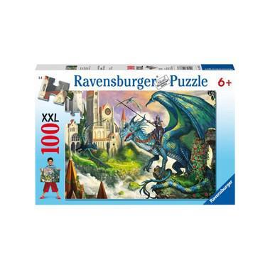 Ravensburger XXL kinderpuzzel Drakenrijder 100 stukjes vanaf 6 j