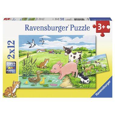 Ravensburger kinderpuzzel Jonge Dieren op het Platteland 12 stuk