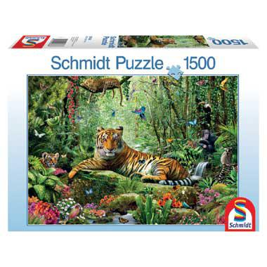 Schmidt legpuzzel Jungle Tigers 1500 stukjes