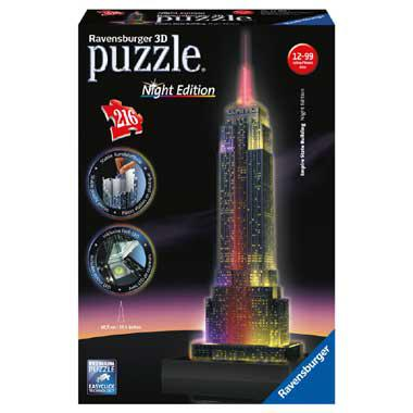 Ravensburger 3D puzzel Empire State Building met licht 216 stukj