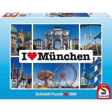 Schmidt legpuzzel i love Munchen 1000 stukjes
