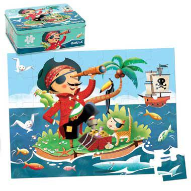 Jumbo kinderpuzzel Piraat 35 stukjes vanaf 2 jaar