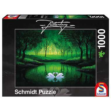 Schmidt legpuzzel Zwanenpaar 1000 stukjes