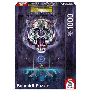 Schmidt puzzel Grommende Tijger 1000 stukjes