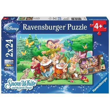 Ravensburger Disney kinderpuzzel Sneeuwwitje en de zeven Dwergen