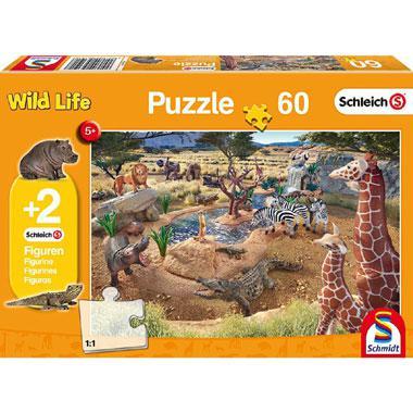Schmidt kinderpuzzel Wild Life aan de Waterbron 60 stukjes vanaf
