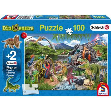 Schmidt kinderpuzzel In het rijk van de dinosauriers 100 stukjes
