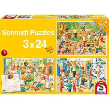 Schmidt kinderpuzzel Een dag op het Kinderdagverblijf 24 stukjes