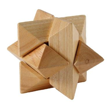 Longfield Games houten kinderpuzzel Iq Ster 6 stukjes vanaf 6 ja