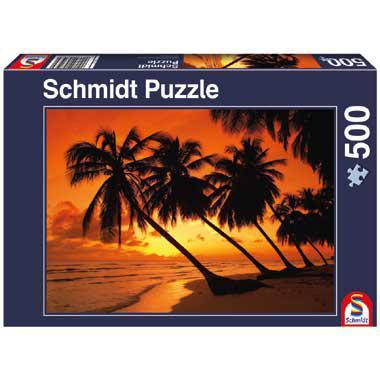 Schmidt legpuzzel Tropisch Zonsondergang 500 stukjes