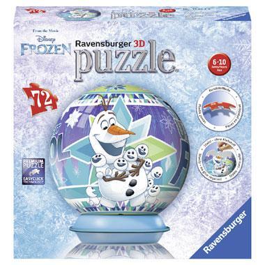 Ravensburger Disney frozen 3D puzzelbal Olaf zijn Avonturen 72 s