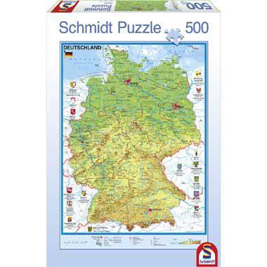 Schmidt puzzel Kaart van Duitsland 500 stukjes